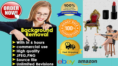 Remove, Edit Background With In 6 Hours with unlimited Revision
