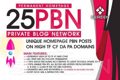 Create 25 Premium Pbn On High Metric Solution