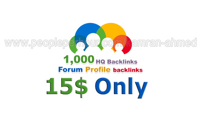 Make 1000 forum profile backlinks to boost your website ranking