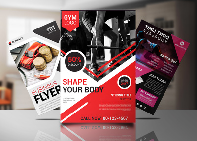 Design sports, fitness, event or business flyer