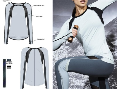 Create a technical drawing of your garment in Illustrator