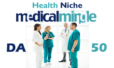"Write And Publish Health Niche Guest Post on ""Medicalming"" DA-4"