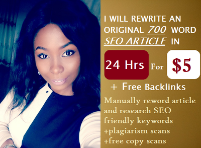 I Will Manually Rewrite An Original 700 Word SEO Article