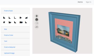 Design online 3D product configurator