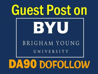 Dofollow Guest Post on DA90 Brigham Young University, Byu.edu