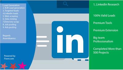Do 500  linkedin lead generation with sales navigator