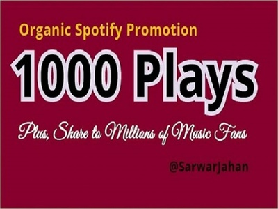 do organic viral spotify music promotion
