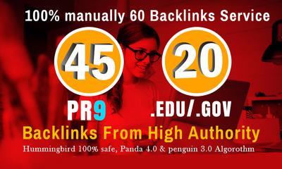 40 PR9 + 20 EDU/GOV Safe SEO High Pr Backlinks 2019 Best Results