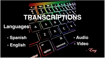 Transcribe audio or video in Spanish to text
