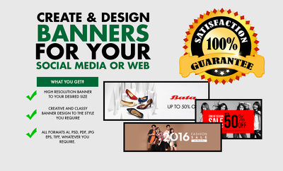 Design 3 website banners that change monthly