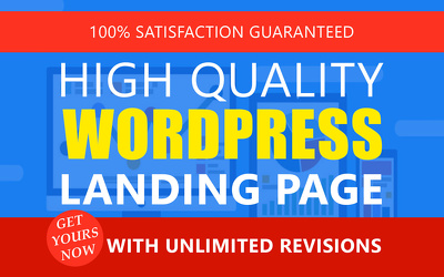 Create a responsive wordpress landing page