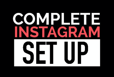 Set up your business instagram + run it for a month SPECIAL!
