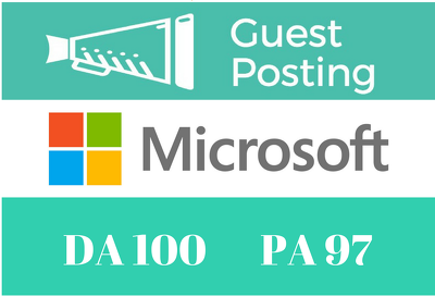 Publish A Guest Post On Microsoft, Microsoft.com DA 100 PA 97