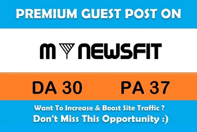 Write And Post An SEO Article on Mynewsfit.com