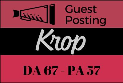 Publish a Guest Post on Krop - Krop.com DoFollow link - DA 67