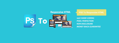 Covert your psd/png/pdf into a responsive html