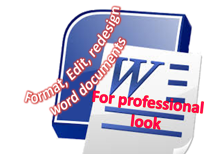 Format, edit and redesign word document (upto 5 pages)