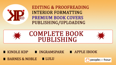 Proofread, format and design your cover for Amazon upload
