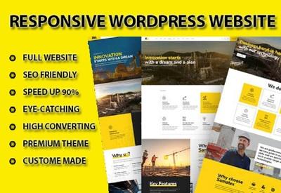 Design Wordpress Website, Blog Website or landing page