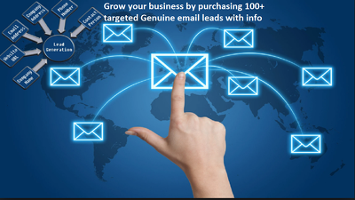 Do collect 100 genuine and active email leads with info