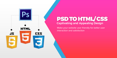 PSD/PNG/Sketch To Responsive HTML template Including JavaScript