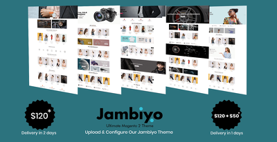Install Fresh Magento and Jambiyo theme.