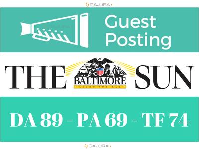 Publish Guest Post on Baltimore Sun - Baltimoresun.com DA 89