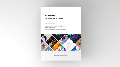 Moodboard For Your Brand or Product