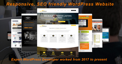 Create Responsive WordPress Design Website With SEO implement