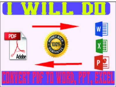Convert PDF To Word, Excel, PPT
