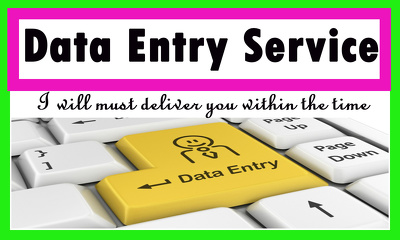 Manage or type your data in word or excel. 24 Hours available.