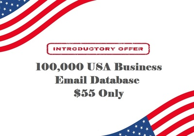 provide 100K USA Business Email & Phone Numbers Database