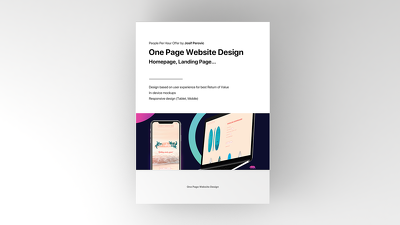One Page Website Design (Homepage, Landing Page...)