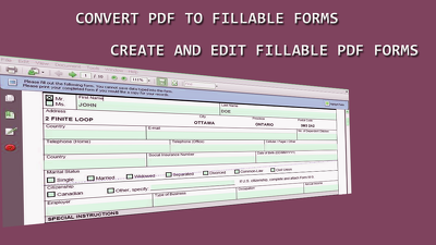 Create and edit fillable PDF forms of 20 pages