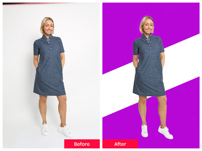 Background removal 10 images by photoshop within 24 hours