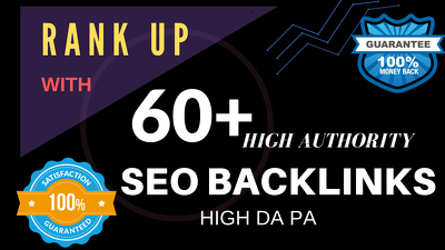 Do 60 link building dofollow backlinks,seo service