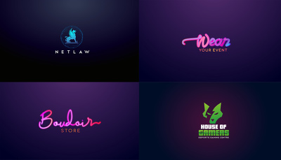 Design logo with 3 initial concepts including all quality work