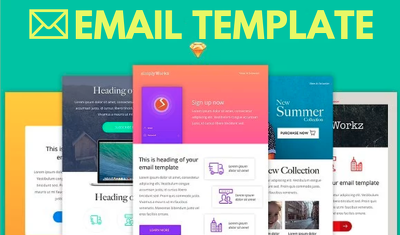 Deliver 2 responsive email template for your business