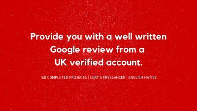 Provide 1 high quality tailored Google review.
