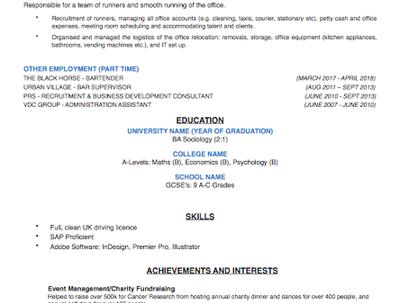 Create a bespoke CV