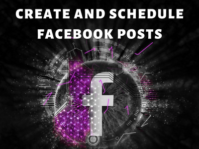 Create and schedule 15 facebook posts - 3 per day