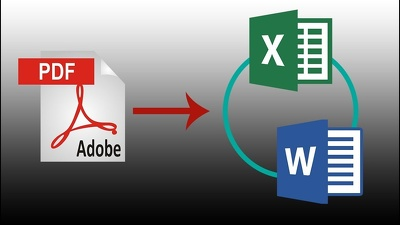Type 15 PDF pages into Microsoft Word or Microsoft excel