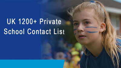 Give you uk 1200 private schools contacts, e mails, web