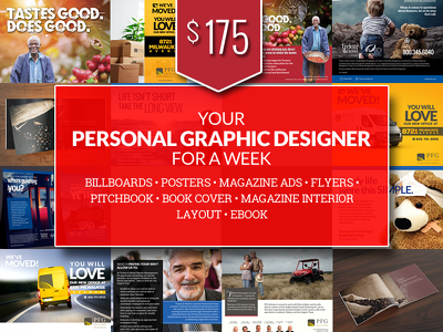 Be Your *** PERSONAL GRAPHIC DESIGNER*** for a week