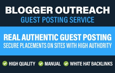 Guest Post With Blogger Outreach On Health And Fashion Blogs