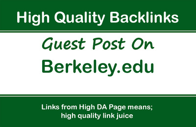 Publish a guest post on Berkeley - Berkeley.edu, DA92