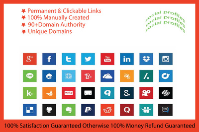 Create 200 social profiles or profile creations backlinks