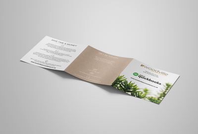 Design a full colour square trifold leaflet