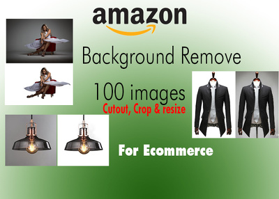 Background remove/ cutout 50 images crop & resize for Ecommerce