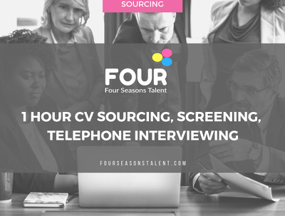 Provide Recruitment Advertising, Sourcing, Screening for 1 Hour